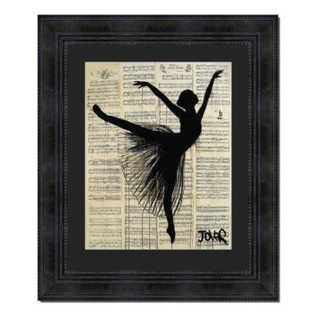 tableau de loui jover arabesque danseuse