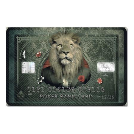 Tableau sylvain binet lion carte de credit