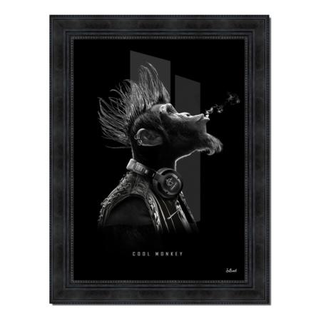 tableau cool monkey noir et blanc s.binet