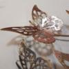 deco zen papillons roses en metal