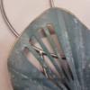deco metal abstraite bleu et argent