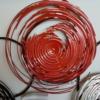 deco metal abstraite rouge et noir