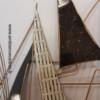deco moderne voiliers blanc gris noir en metal
