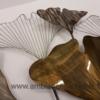 grande décoration feuilles ginkgo en metal