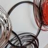 deco metal abstraite rouge et noire