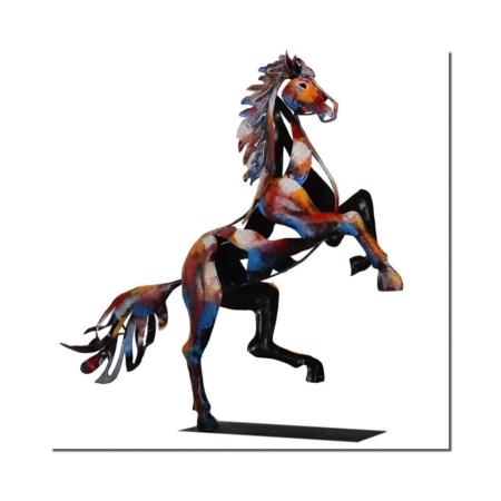 decoration cheval en metal