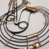 decoration saxophone en metal
