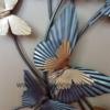 decoration en metal papillons