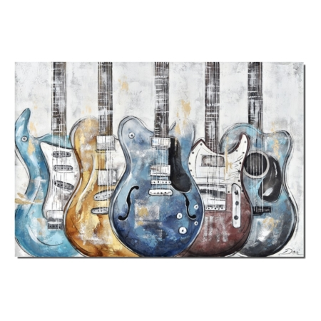 grande toile guitares electriques
