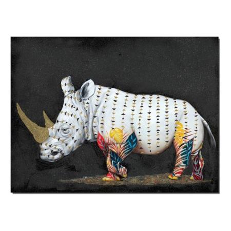 Grande Toile Rhinoceros Moderne