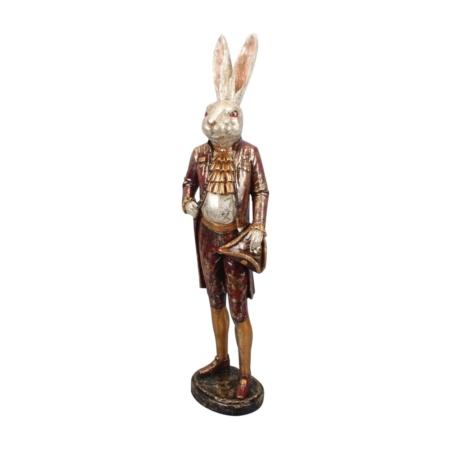 Statue Lapin Vintage Habillé