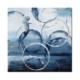 tableau abstrait ronds bleus