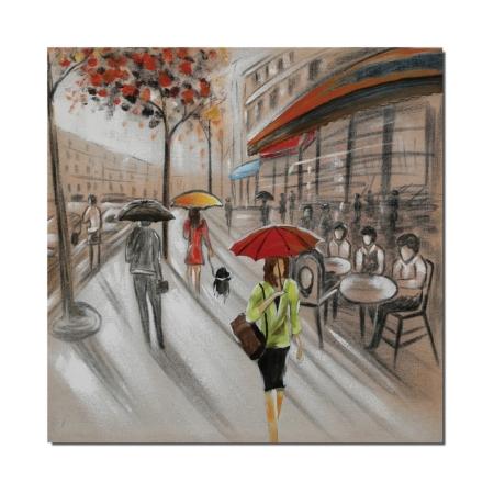 Tableau Figuratif Rue de Paris