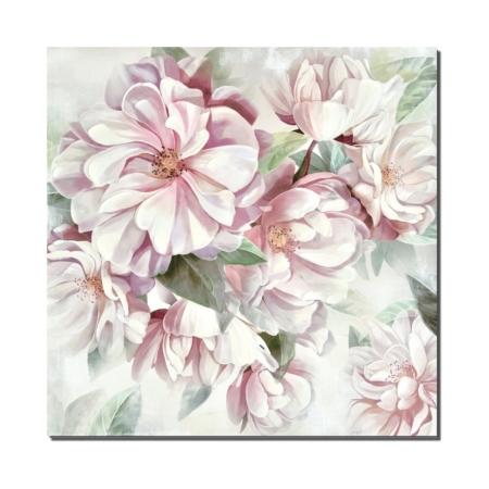 Tableau Fleurs Roses et Blanches