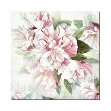 Tableau Grosses Fleurs Blanches Roses