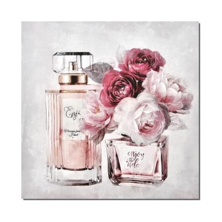 Toile Decorative Parfum et Roses