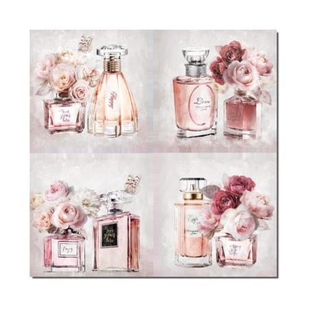 Toiles Parfum et Fleurs roses