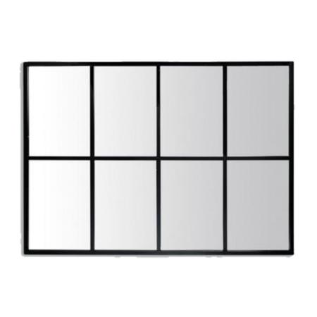 Miroir Atelier Fenetre 8 Vues Noir