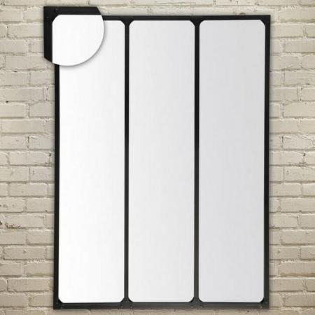 Miroir Industriel Métal Noir Récup