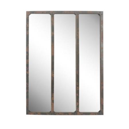 Miroir Industriel Métal Rouillé