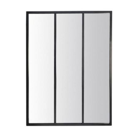 Miroir Métal Noir 3 Bandes