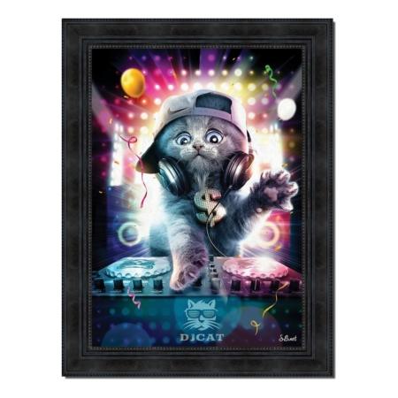 Tableau DJ Cat Sylvain Binet