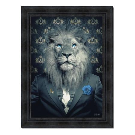 Tableau Lion Fashion Sylvain Binet
