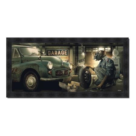 tableau vintage garage sylvain binet