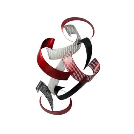 Décoration Abstraite Rouge Noir En Métal