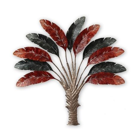 Grande Décoration Palmier Rouge et Noire
