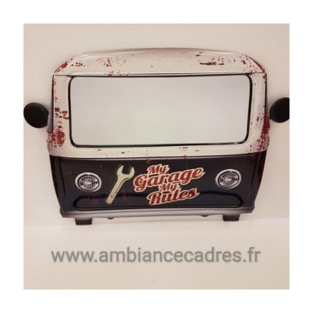 Miroir Vintage Combi Noir