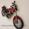 Déco Murale Moto Rouge en Métal