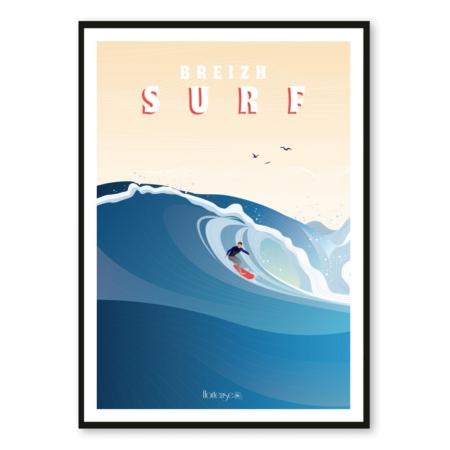 Affiche Breizh Surf Hortense