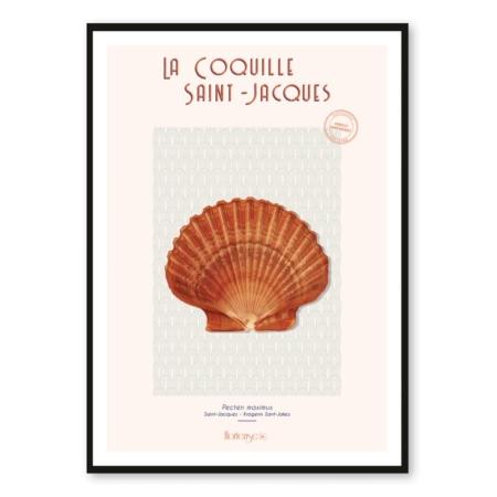 Affiche Coquilles Saint-Jacques Hortense