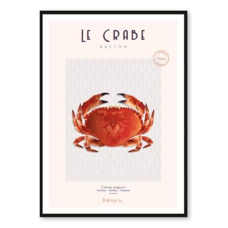 Affiche Crabe Hortense Déco Cuisine