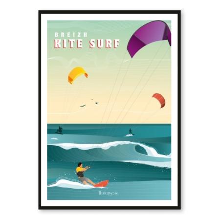 Affiche Kite Surf Hortense