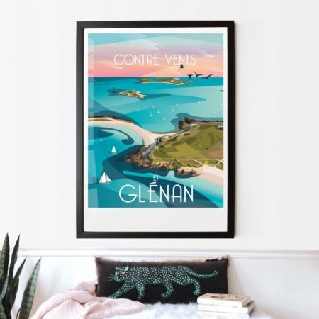 Affiche Les Glénan La Loutre