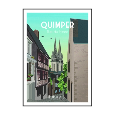 Affiche Quimper Hortense Rue Du Lycée