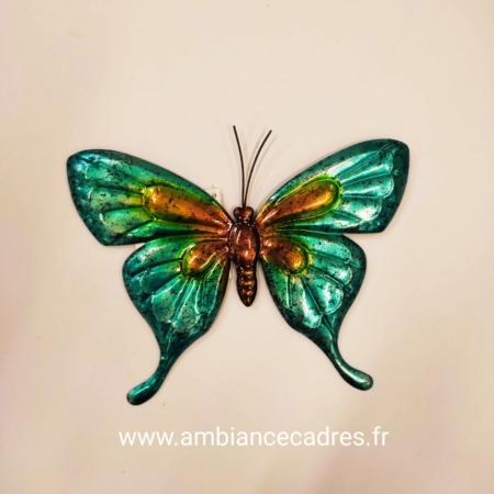 Papillon Turquoise en Métal