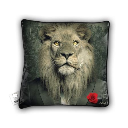 Coussin Lion Mafia Sylvain Binet