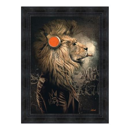 Tableau Lion Punk Sylvain Binet
